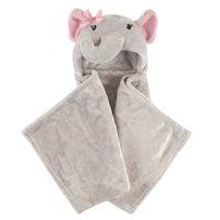 Hudson Baby Boy and Girl Animal Hooded Blanket - Pretty Elephant