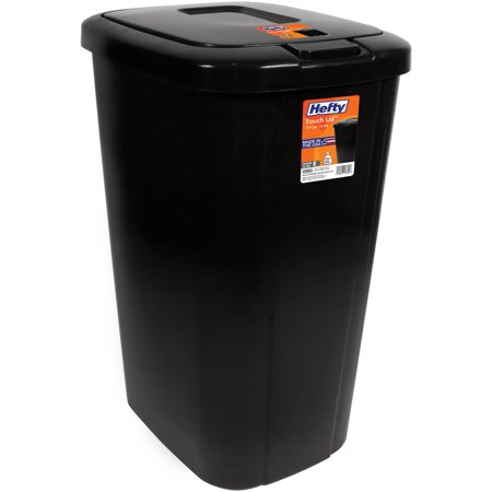 Hefty Touch-Lid 13.3-Gallon Trash Can,