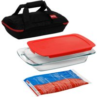 Pyrex 4-Piece Portables Set (Black)