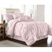 24d640eb1a8 Chezmoi Collection Sydney 7-Piece Pintuck Pinched Pleated Comforter Set