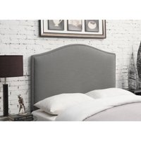 Camel Back Linen Upholstered Headboard, Multiple Colors and Sizes