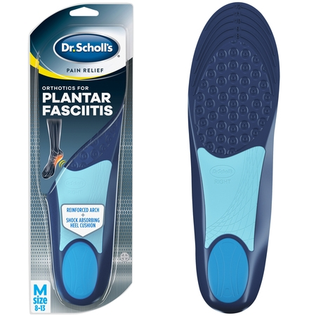 - Dr. Scholl's Pain Relief Orthotics for Plantar Fasciitis for Men, 1 Pair, Size 8-13