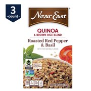 (2 Pack) Near East Quinoa & Brown Rice, Roasted Red Pepper & Basil, 4.9 oz