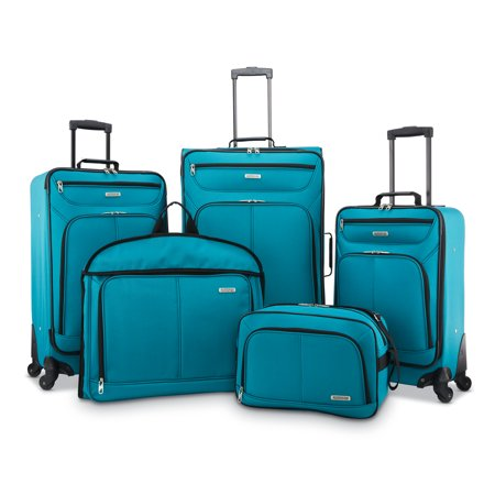 American Tourister 5 Piece Softside Luggage Set American Tourister Mesh Carry On