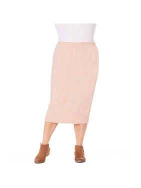 Plus Moda Women's Plus Knit Skirt