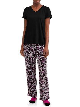 Secret Treasures Women's 3-Piece Pajama Set with Socks