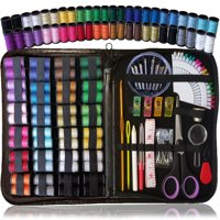 SEWING KIT, Over 110 Quality Sewing Supplies, 48 Spools of Thread, XL sewing kit for DIY, Beginners, Emergency, Kids, students, dorm, Travel and home