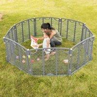 Evenflo Versatile Playspace Indoor/Outdoor Gate, Cream
