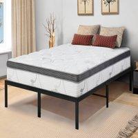 GranRest 14 Inch Innovative Metal Platform Bed Frame, Twin