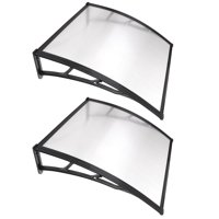 """Yescom 39""""x 39"""" Door Window Outdoor Awning Patio Cover UV Rain Snow Protection Polycarbonate Hollow Sheet"""