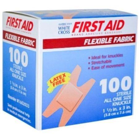 """American White Cross 1.5"""" x 3"""" Adhesive Bandage Fabric 700 Bandages MS-25600"""