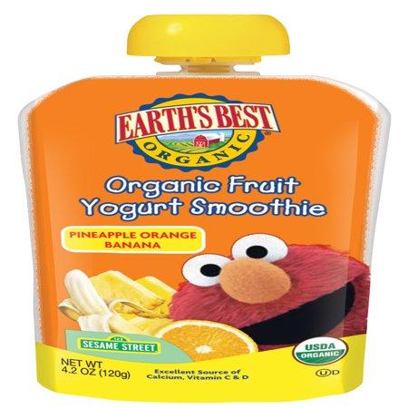 Earth's Best Organic Fruit Yogurt Smoothie, Pineapple Orange Banana, 4.2