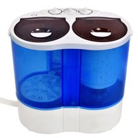 Costway Portable Mini Washing Machine Compact Twin Tub 15.4lbs Washer Spin Spinner