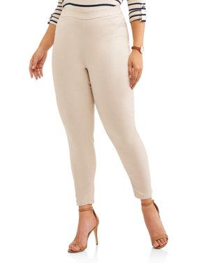 Women's Plus Size Pull On Stretch Woven Pant
