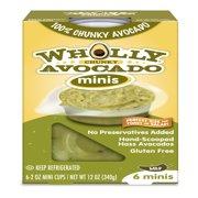 Wholly Guacamole Minis Chunky Avocado Mild, 6 count, 2 oz