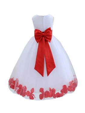 Ekidsbridal Wedding Pageant Rose Petals White Tulle Flower Girl Dress Toddler Special Occasion 302T purple 4