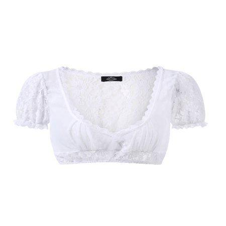 Women's Beer Festival Sexy See-Through Dirndl Solid Lace Chiffon Splicing Stylish Dirndl Top