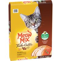 Meow Mix Tender Centers Salmon & Turkey Flavors With Vitality Bursts Dry Cat Food, 13.5-Pound