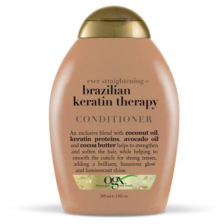 OGX Ever Straightening + Brazilian Keratin Therapy Conditioner, 13 FL