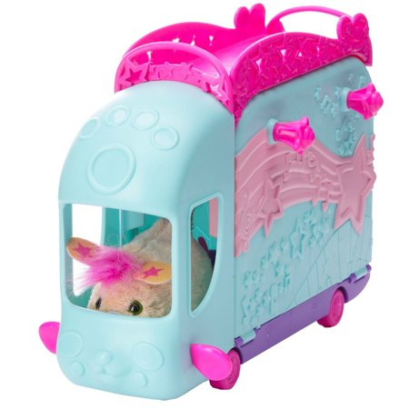 Furreal Friends Furry Frenzies Zoomin Stage, Take your FURRY FRENZIES fun on tour with this two-in-one tour bus and performance stage playset! By Fur Real Friends Ship from