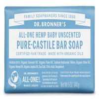 (3 pack) Dr. Bronner's Baby-Unscented Bar Soap