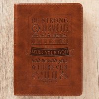 Journal Lux-Leather Be Strong & Courageous Josh 1:9