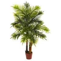 Nearly Natural 4' Areca Palm Tree, Real Touch Feel