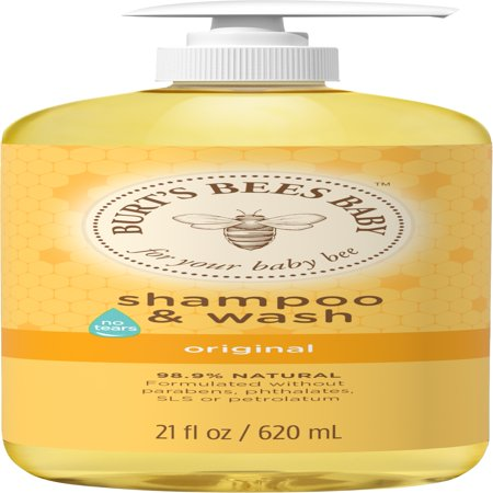 Burt's Bees Baby Shampoo & Wash, Original Tear Free Baby Soap - 21 Ounce - Baby Bee Tear