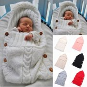 e61a44a08a Infant Newborn Baby Knit Blanket Swaddle Wrap Sleeping Bag Photograpgy