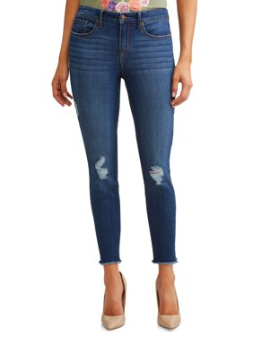 Sofía Skinny Destructed Mid Rise Ankle Jean Women's (Medium Wash)