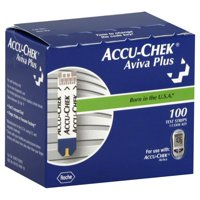 Accu-Chek Aviva Plus Blood Glucose Test Strips, 100 Ct