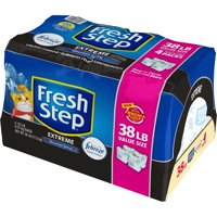 Fresh Step Extreme Scented Litter with the Power of Febreze, Clumping Cat Litter – Mountain Spring, 38 lbs