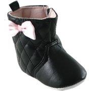 Newborn Baby Girls Quilted Boots