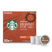 Starbucks Breakfast Blend K-Cup Coffee Pods, Medium Roast, 32 Count