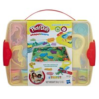 Play-Doh Shape & Learn Discover & Store Set with 6 Cans of Dough, 15+ Tools & Carrying Case