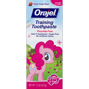 (2 pack) Orajel Training Toothpaste Fluoride-Free My Little Pony, 1.5 OZ