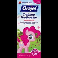 (2 pack) Orajel Training Toothpaste Fluoride-Free My Little Pony, 1.5 OZ