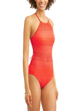 Women's Crochet One-Piece Swimsuit