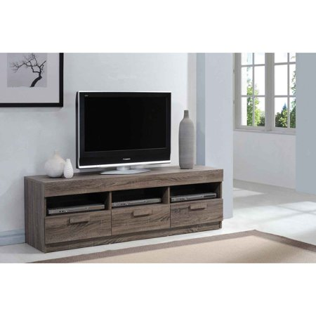 Acme Alvin Rustic Oak Tv Stand For Flat Screen Tvs Up To 60