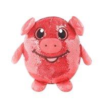 "Shimmeez, 8"" Polly Pig, Sequin Plush Stuffed Animal"