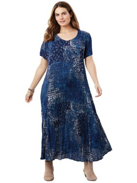 Plus Size Crinkle Dress
