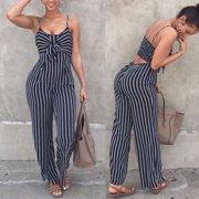 764036089a24 Women s Summer Sleeveless Bodycon Slim Fit Jumpsuit Clubwear Bodysuit Long  Pants