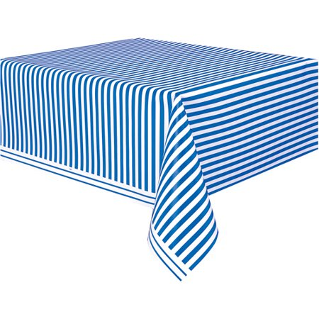 Table Striped (Royal Blue Striped Table Cover, 108