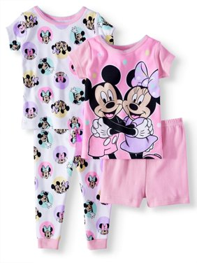 Product Image Baby Girls  Minnie Mouse Cotton Tight Fit Pajamas d79562427