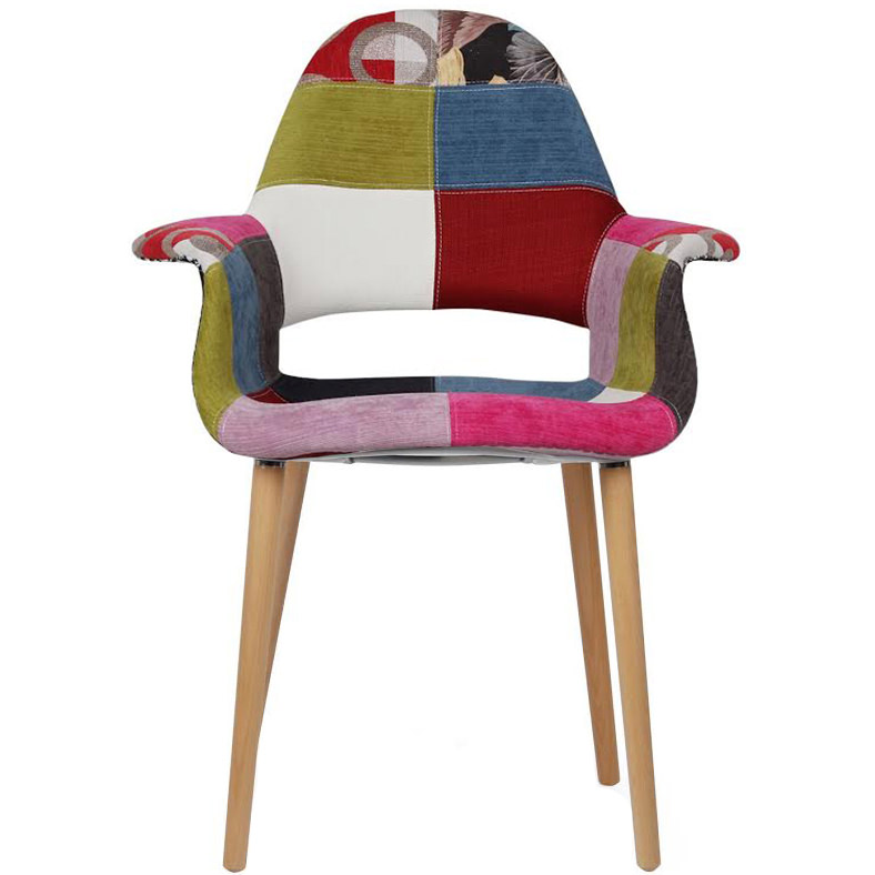 2xhome   Ann Mid Century Modern Upholstered Fabric Organic Accent Living  Room Dining Chair With Arms