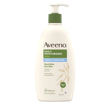 Radiance Sheer Body Lotion (Aveeno Sheer Hydration Daily Moisturizing Dry Skin Lotion, 18 fl. oz )