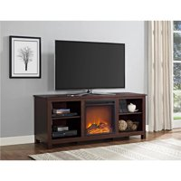 "Ameriwood Home Edgewood TV Console with Fireplace for TVs up to 60"" Espresso"