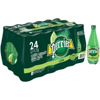 (24 Bottles) PERRIER Lime Flavored Carbonated Mineral Water, 16.9 Fl Oz