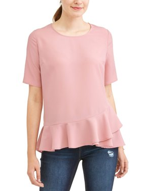 Women's Ruffle Peplum Top