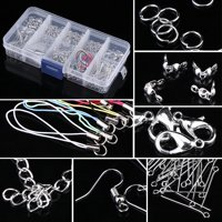 Jewelry Making Kits Set Head Pins Chain Beads Craft Accessories With Box, Jewelry Findings, Craft Making Supplies